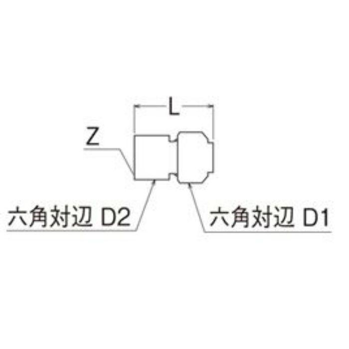 T610N-3-20X20A-S メスアダプター
