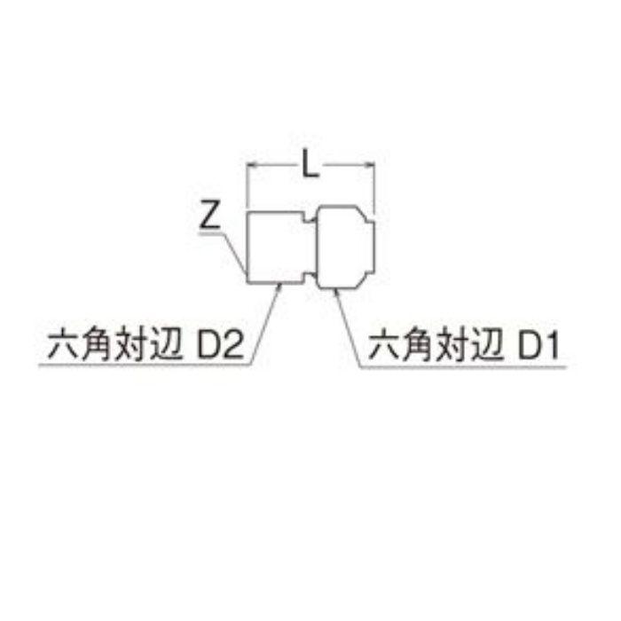 T611N-3-13X10A-S メスアダプター平行