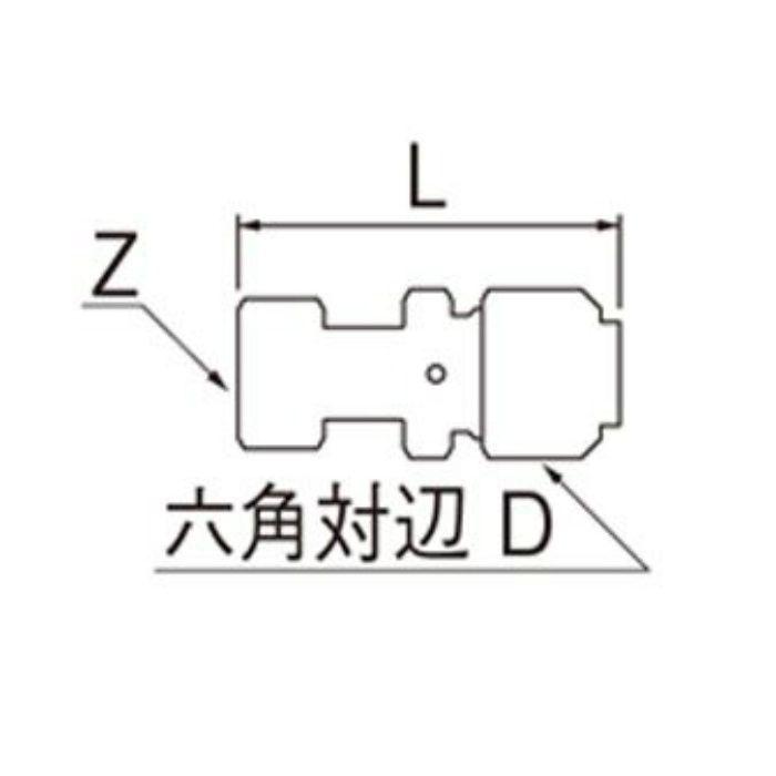T615N-3-13X16A-S ナット付アダプター