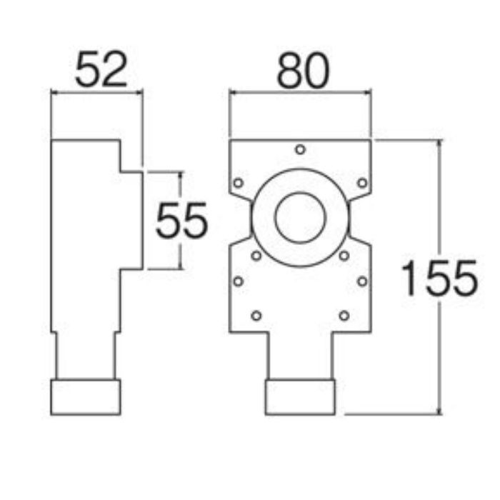 T850-3-25 壁用水栓ボックス