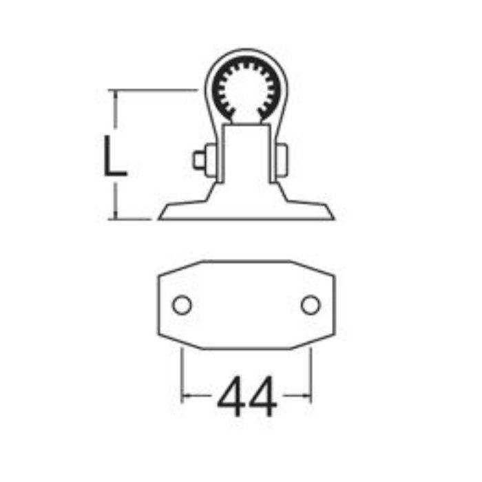 R654N-1-150 樹脂製T字サドル 防振ゴム付