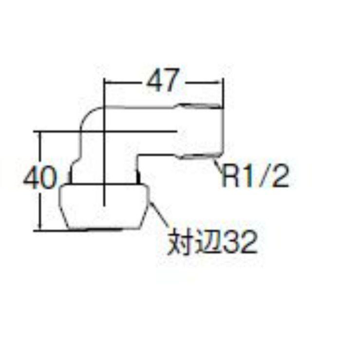 T62-1-13 ポリパイジョイントエルボ1種オス