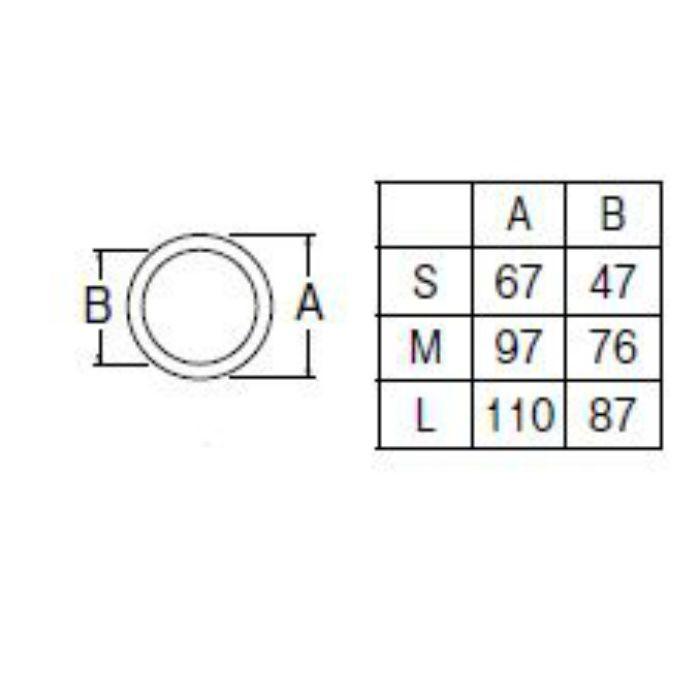 PP40-62S-L 流し排水栓取付パッキン