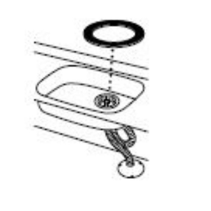 PP40-63-S 流し排水栓取付パッキン