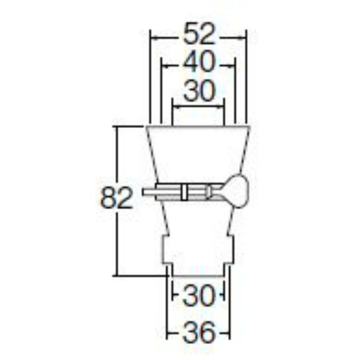 PH62-87S 排水ホース差込口 バンド付