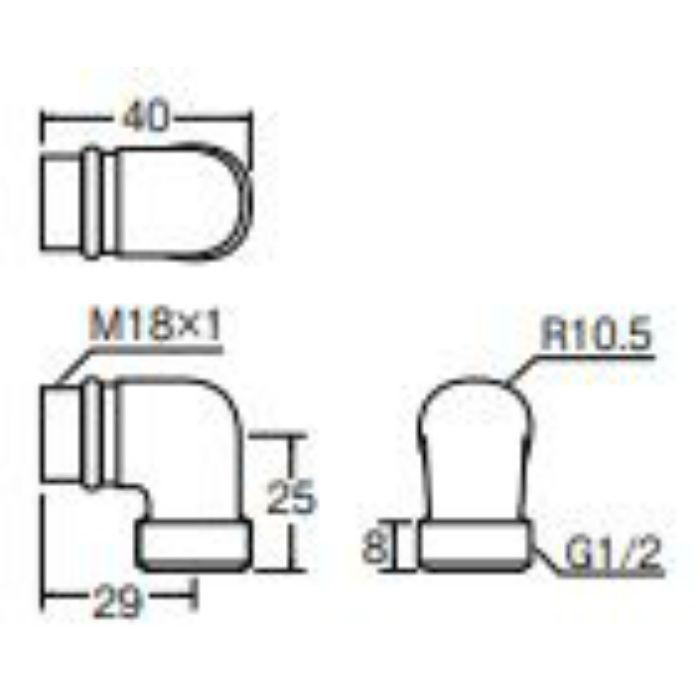 PT270 シャワーエルボ