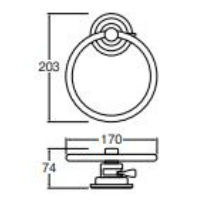 PW5373-1 吸盤タオルリング
