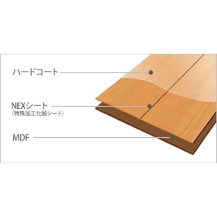 NH1S2-ME ネクシオハード NEXシート貼り 1本溝タイプ 上履用 12mm厚 チェリー柄 ミディアム色【地域限定】