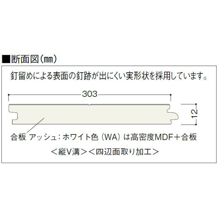 NFS1-SE ナチュラルフェイスS 1本溝タイプ 根太・上履用 12mm厚 せん 特色【地域限定】