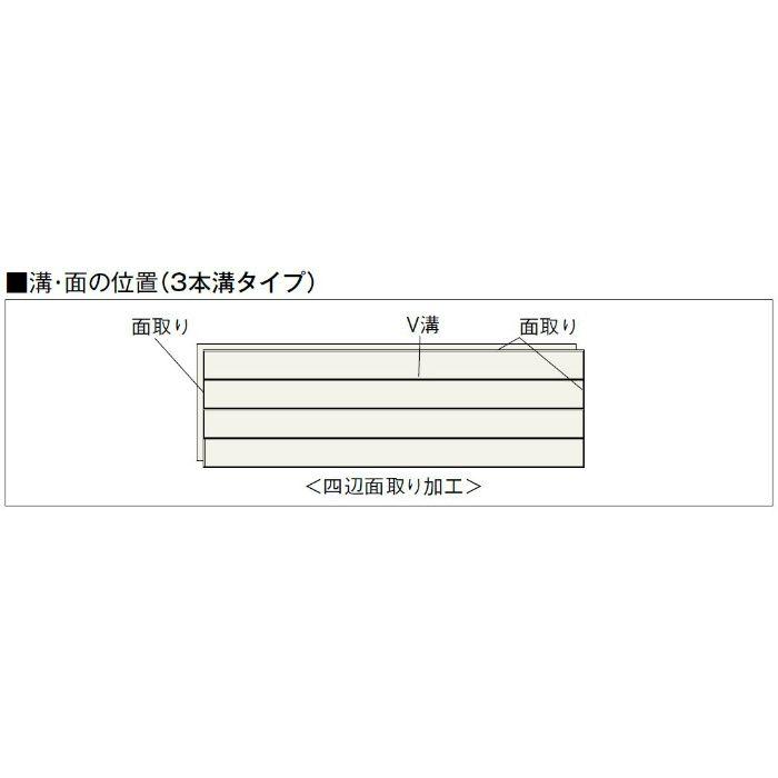 NK-DA Nクラレス 3本溝タイプ かば 根太・上履用 12mm厚 源平かば ダーク色【地域限定】