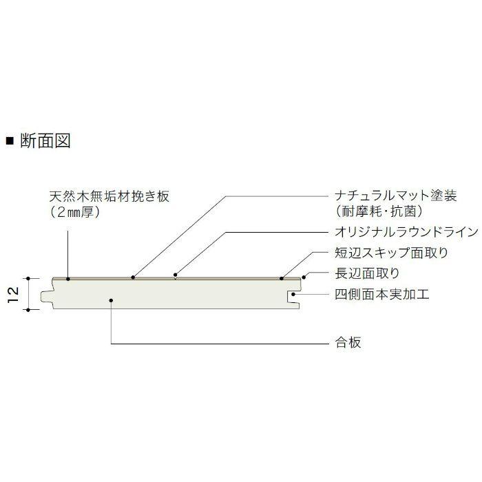 PDTAAKJ02 ライブナチュラル プレミアム nendo collection/amida ブラックウォルナット 303mm【地域限定】