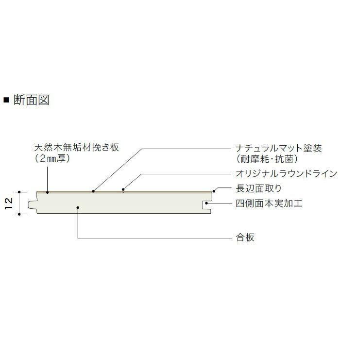 PDTAMKJ05 ライブナチュラル プレミアム MOSAIC オーク N-45° 2Pタイプ303mm【地域限定】