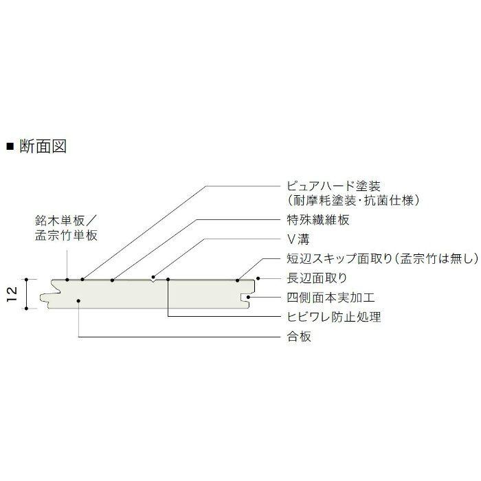 HTP30053NM ライブナチュラル ピュアハード塗装 サペリ 3Pタイプ303mm【地域限定】