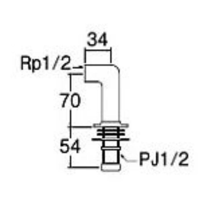 PT260-13 水栓取付脚 L