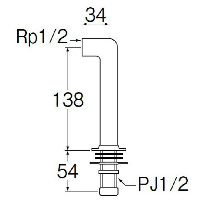 T261-13 水栓取付脚 LL