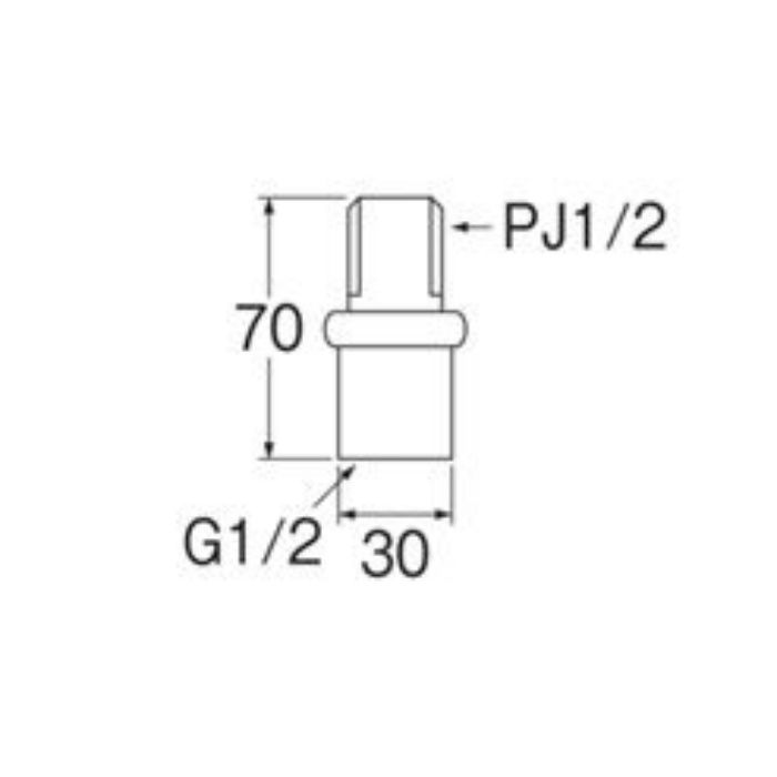 PT82-1S-13 偏心管アダプター 2個入