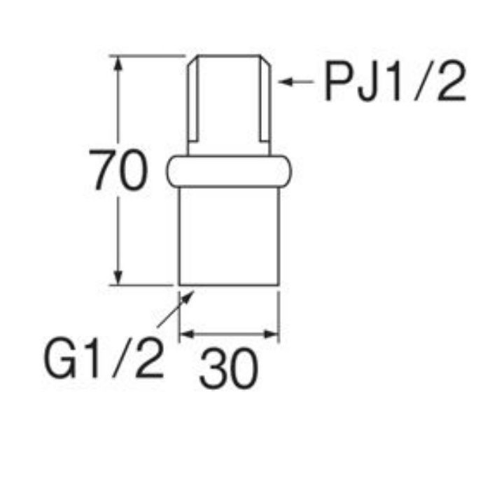 T82-1-13 偏心管アダプター
