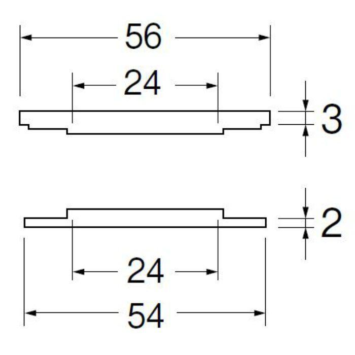 R5362-24-3638 水栓穴変換アダプター