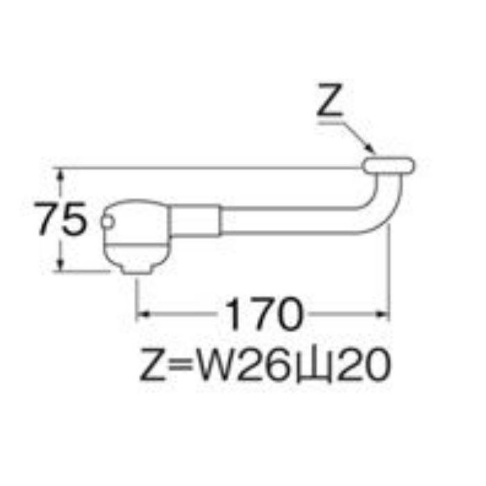 PA13M-60X-16 シャワー回転パイプ