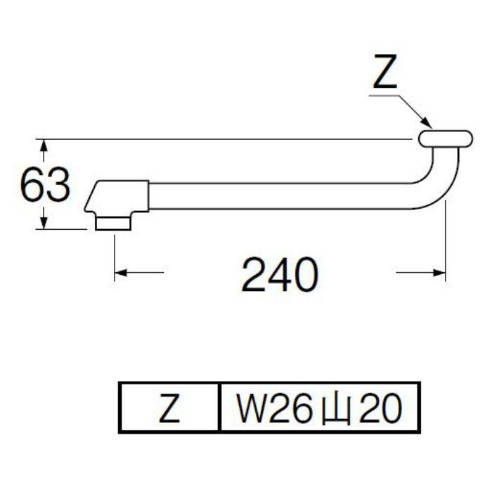 PA10JD-61X2-16 断熱自在パイプ