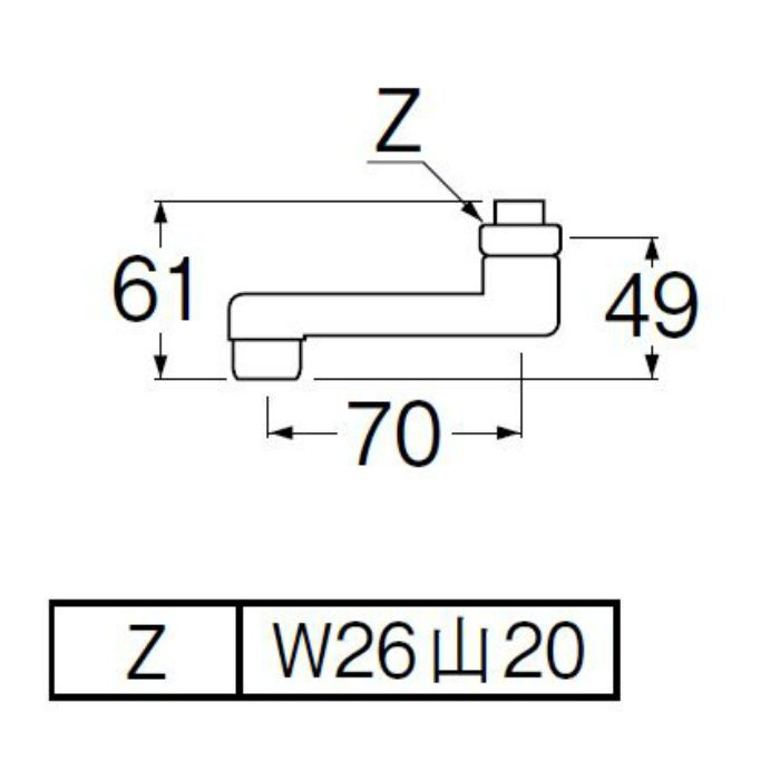 PA1110-61X-16 角吐水口