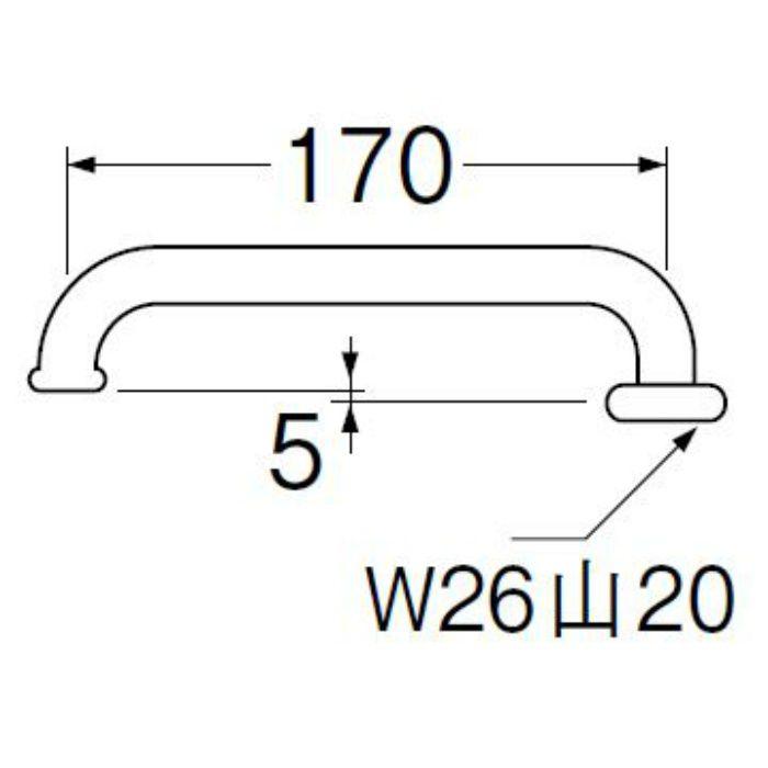 PA20J-60X-16 横形パイプ