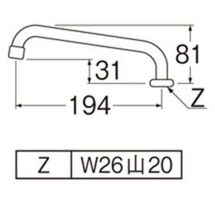 PA27JH-60X-16 泡沫横形上向パイプ