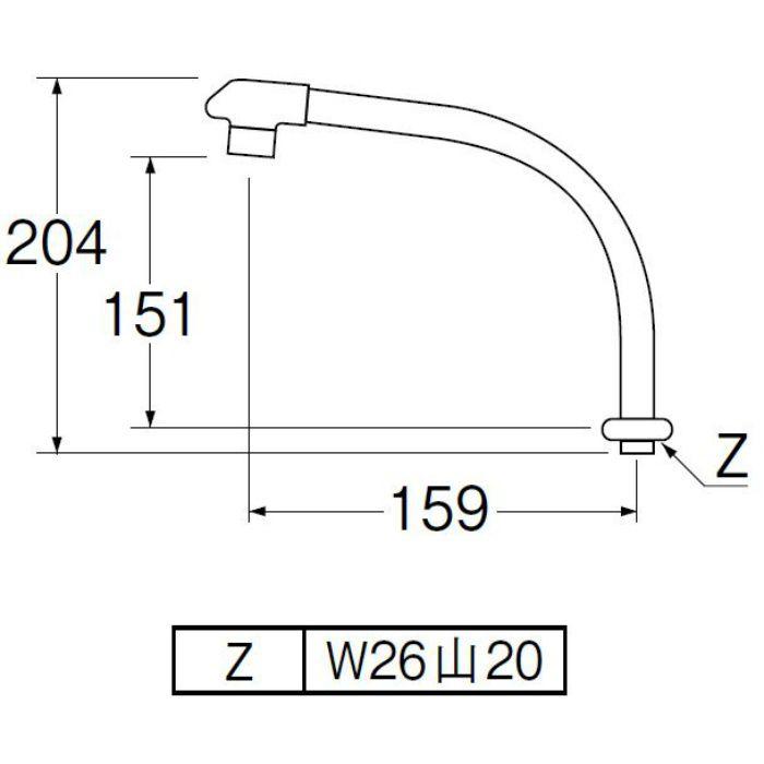 PA232D-61X1-16 断熱腰高パイプ