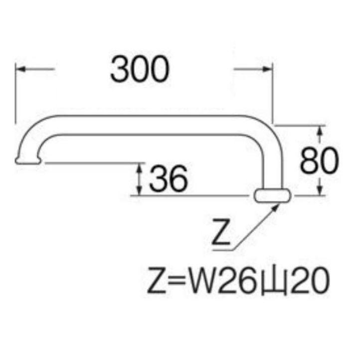 PA25J-61X3-16 腰高パイプ