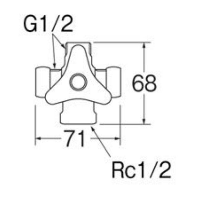 B4110-13 分岐バルブ(共用形)