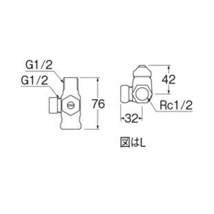 B4131D-R-13 D式分岐バルブ(共用形)