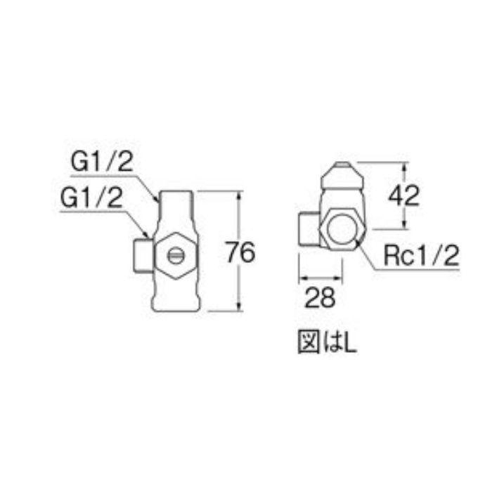 B4131DN-L-13 D式分岐バルブ(共用形)