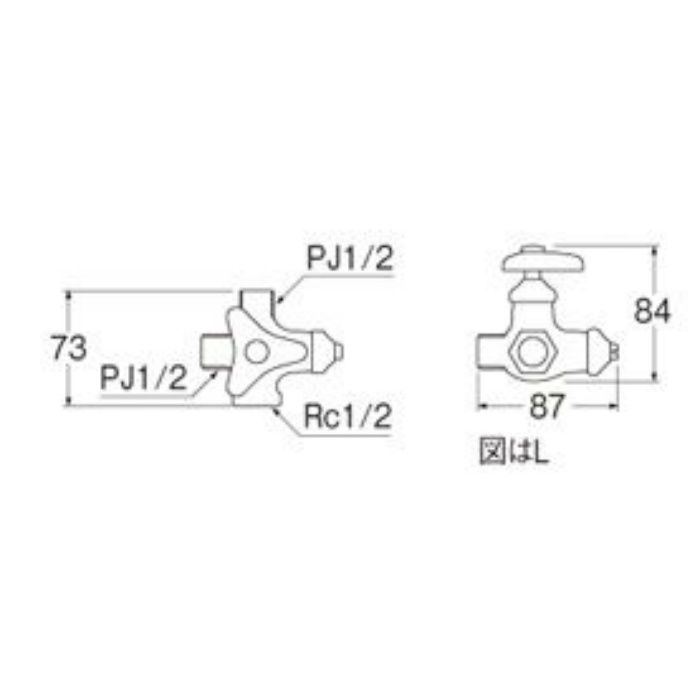 V2220RAD-X3-13 分岐止水栓本体(共用形)