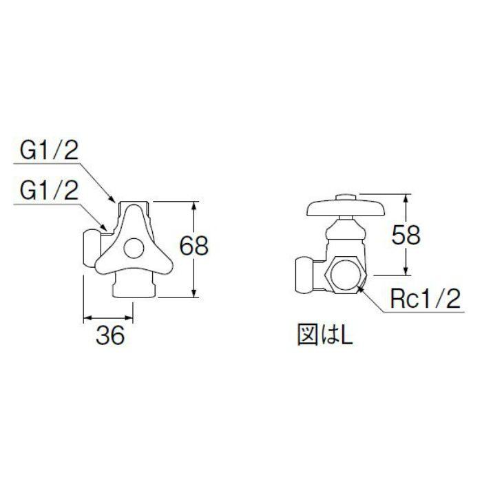 B4111-R-13 ストレート分岐バルブ(共用形)