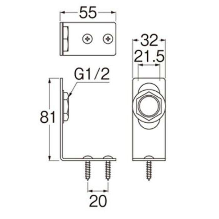 R641 分岐止水栓ブラケット