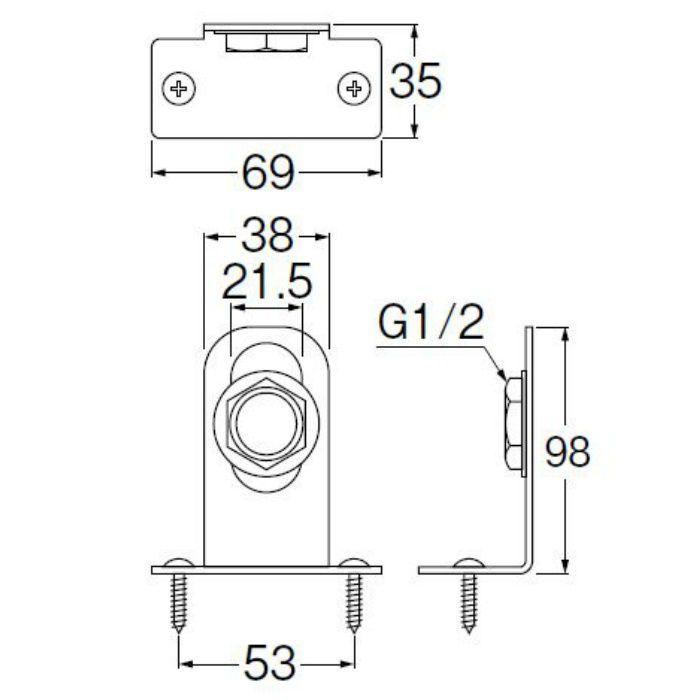 R641T-L 止水栓ブラケット