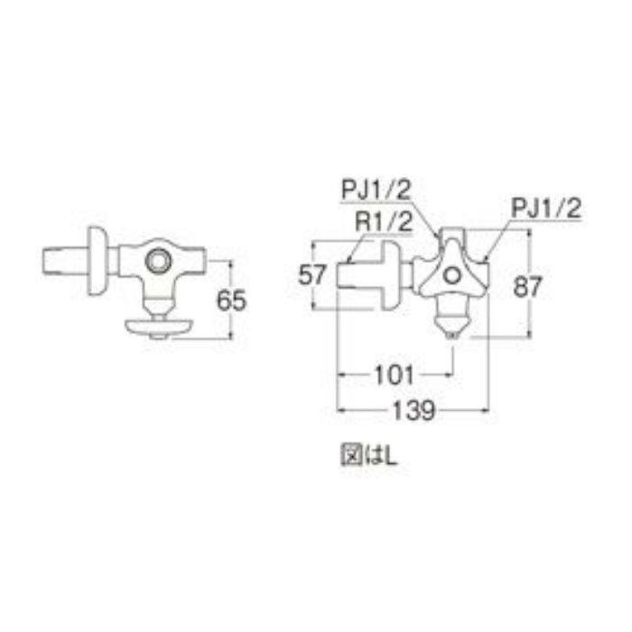 V2220RAD-X2-13 D式分岐止水栓本体(共用形)