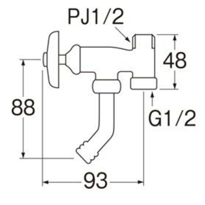 JB32-13 アングル分岐バルブ