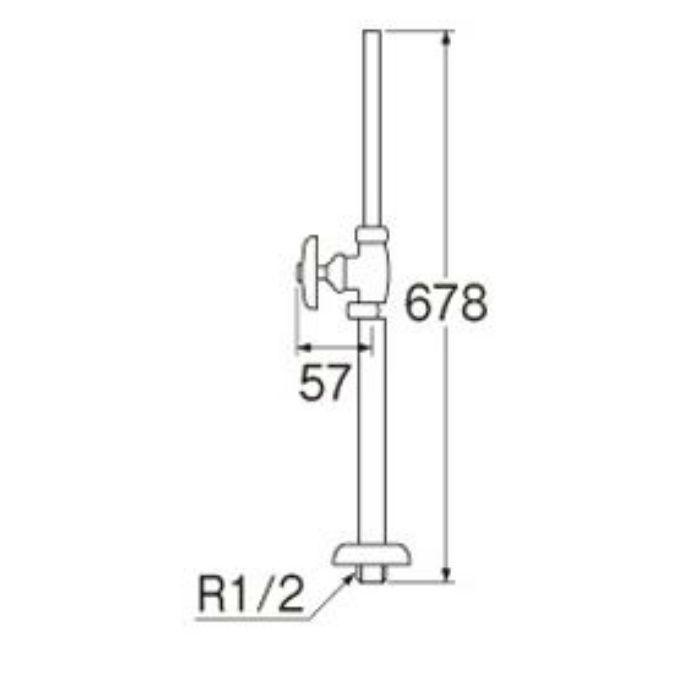 V21JS-13 ストレート形止水栓(共用形)