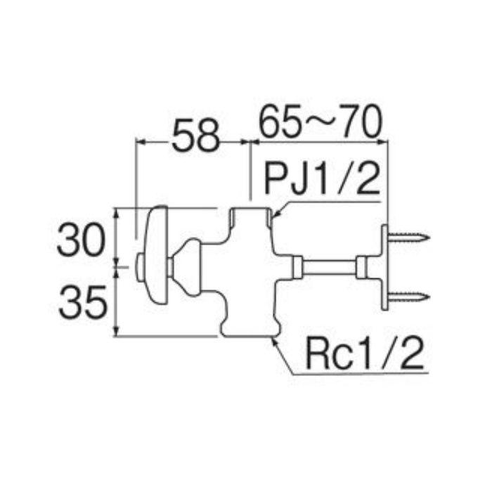 V2110-13X48 止水栓本体(共用形)