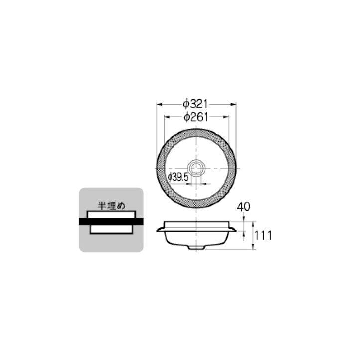 493-036 和風 丸型手洗器