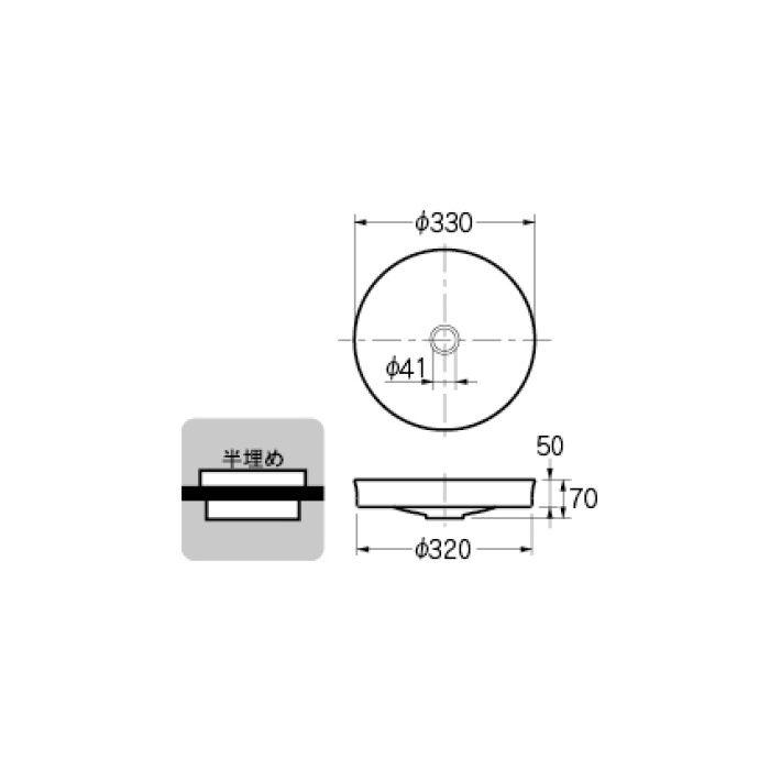 493-097-PU 和風 丸型手洗器 ラベンダー