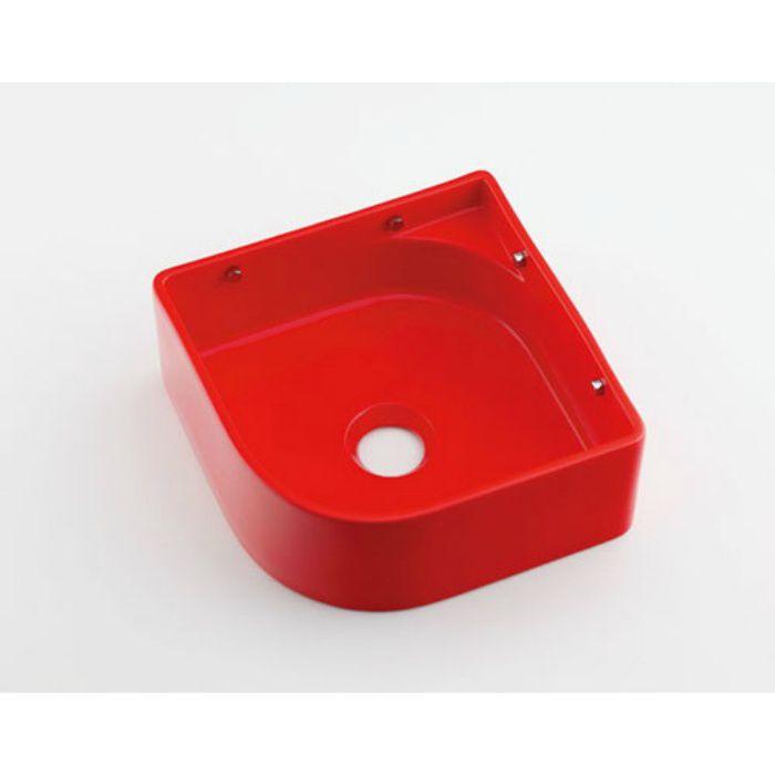 493-048-R 壁掛タイプ 壁掛手洗器 レッド