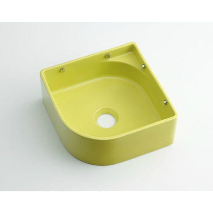 493-048-YG 壁掛タイプ 壁掛手洗器 イエローグリーン
