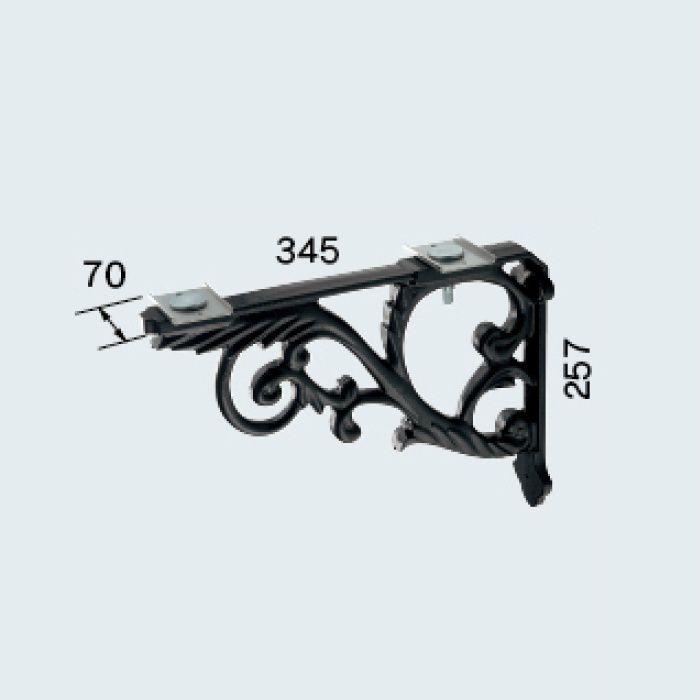 250-005-D ブラケット(鋳鉄・黒色塗装)