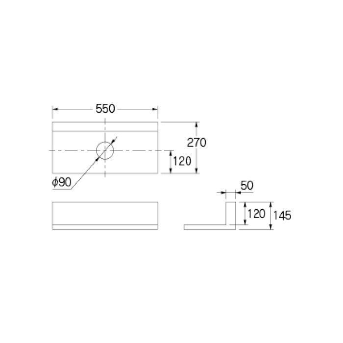497-056-C 専用カウンター 手洗カウンター ライトウッド