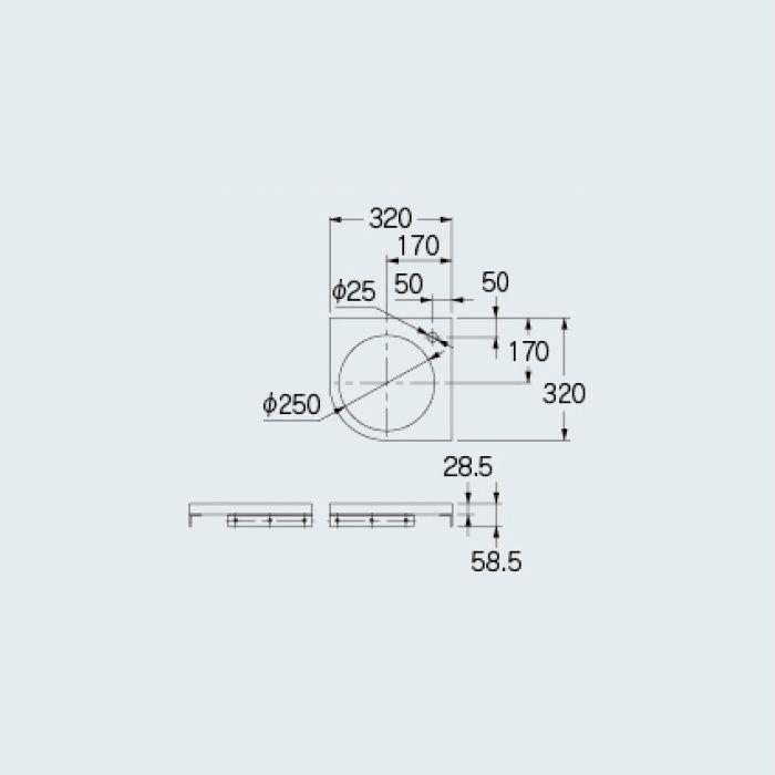 497-052-D 専用カウンター コーナーカウンター 烏羽