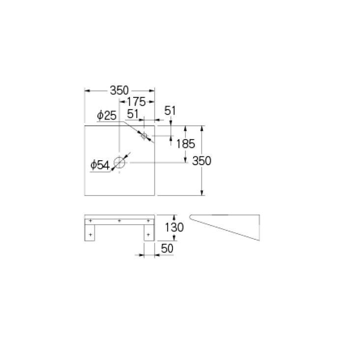 497-062-D 専用カウンター 手洗カウンター ブラック