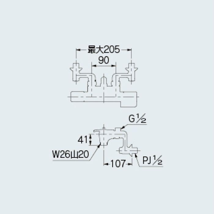 173-400K 水栓本体部品 サーモスタットシャワー混合栓本体(寒冷地仕様)