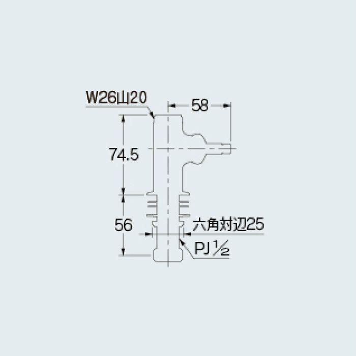 700-790-13 水栓本体部品 立形自在水栓本体